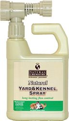 Natural Yard and Kennel Flea & Tick Spray with Convenient Hose -End Sprayer Hookup. 32oz bottle covers up to 4, 500 sq ft.