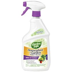 Garden Safe Brand Houseplant & Garden Insect Killer, Ready-to-Use, 24-Ounce, 4-Pack