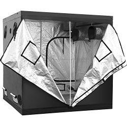 iPower GLTENTXL2 Grow Tent, 80″ x 80″ x 78″, black and silver