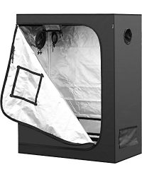 iPower 48″x24″x60″ 2'x4′ Hydroponic Mylar Grow Tent with Observation Window, Tool Bag and Floor Tray for Grow Light and Indoor Plant Growing