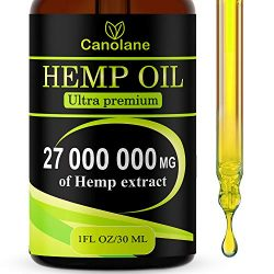 Hemp Oil Drops, 27 000 000 mg, Natural CO2 Extracted, 100% Organic, Pain, Stress, Anxiety Relief, Reduce Insomnia, Vegan Friendly… (1)