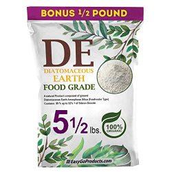 EasyGoProducts Diatomaceous Earth – 100% Natural Food Grade – DE Fresh Water – 5.5 Pounds, (Model: EGP-DE-05)