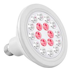iPower GLLEDXA24CNEW 24W Full-Spectrum 18 LED Light Bulb for Grow Tent, Greenhouse Plant and Flower, IP65 Waterproof, 1 Pack-New