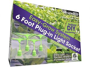 MiracleLED 604691 4 String Light (2-Pack) Grow Tent Fixture, Four Socket