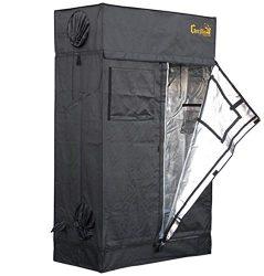 Gorilla Grow Tent Lite Line   Complete 2-Foot by 4-Foot Reflective Hydroponic Grow Tent for Growing Indoor Plants   Steel Interlocking Poles, Windows, Floor Tray