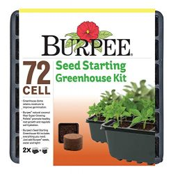 Burpee Seed Starter Tray with Coir Pellets, One Size, 72 Cells