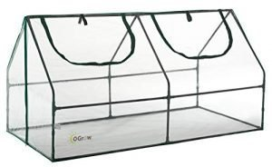 OGrow Ultra Deluxe Compact Outdoor Seed Starter Greenhouse Cloche, Clear
