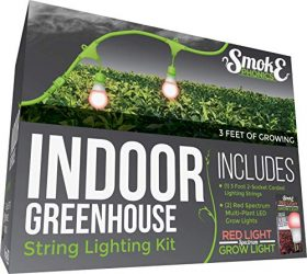 Miracle LED SmokePhonics Indoor Greenhouse Corded Lighting Kit Add-On 3-Foot 2-Socket with Two Red Spectrum Grow Lights (601857)