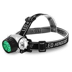 iPower GLLEDXHEADGREEN21 21-Bulb High Intensity Green Light LED Grow Room Headlamp, 1-Pack