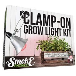 Miracle LED 602976 SmokePhonics Red Spectrum Fruiting & Flowering Replacing 150W Clamp & Grow Anywhere LED Clamp-On Grow Light Kit